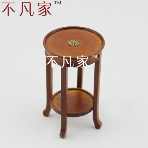 Doll house 1/12 scale fine miniature furniture hand carving well made beautiful flower stand