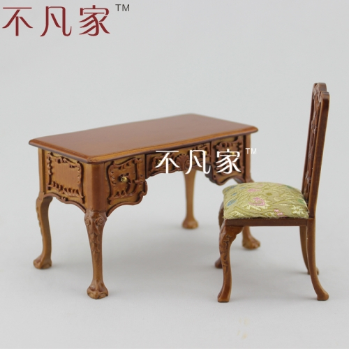1/12 scale Doll house dollhouse sculpture mini desk and chair