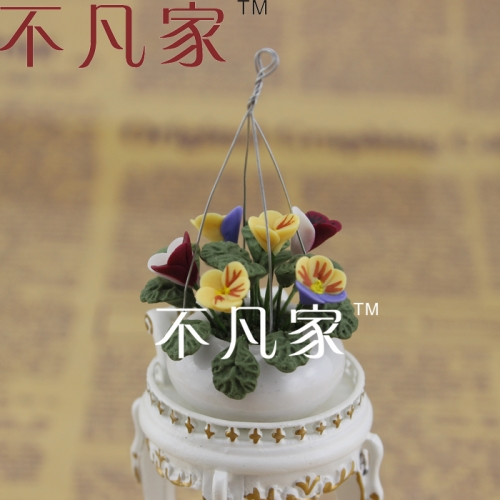 FREE SHIPPING 1/12 SCALE WELL MADE COLORFUL MINIATURE FLOWER FOR DOLLHOUSE