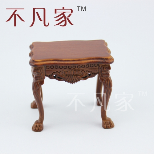 Dollhouse1/12 Scale Miniature Furniture carved classical table Flower shelf
