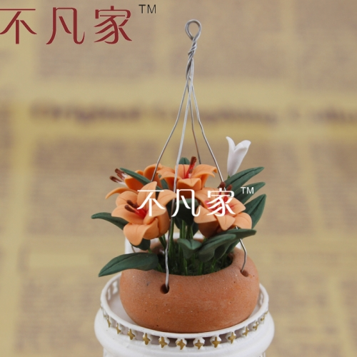 free shipping 1/12 scale well made high quality miniature flower for dollhouse decoration