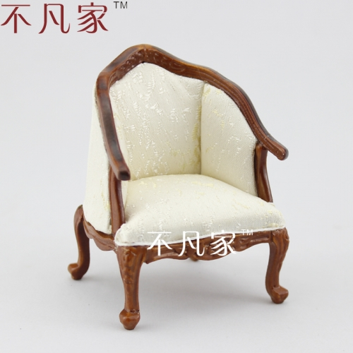 Dolls furniture Miniature 1/12scale Luxurious Well made elegant Grand Armchair