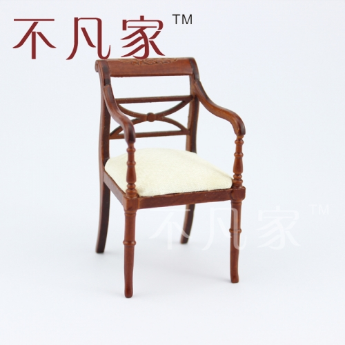 miniature furniture Dining room wooden hand carved chair Dollhouse 1/12 scale
