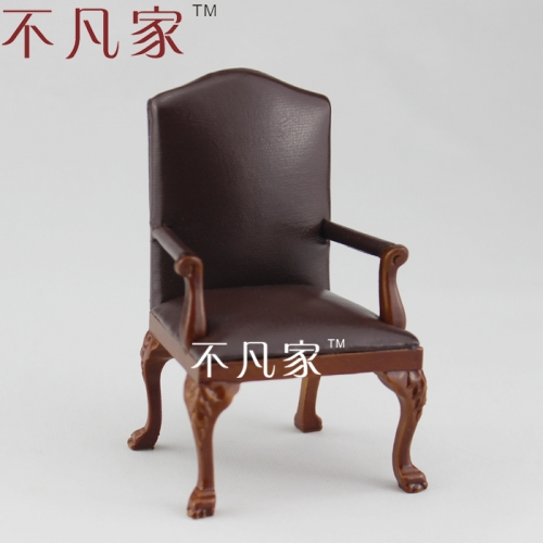 1/12th scale Miniature Hand carved admirable Armchair for Dolls house