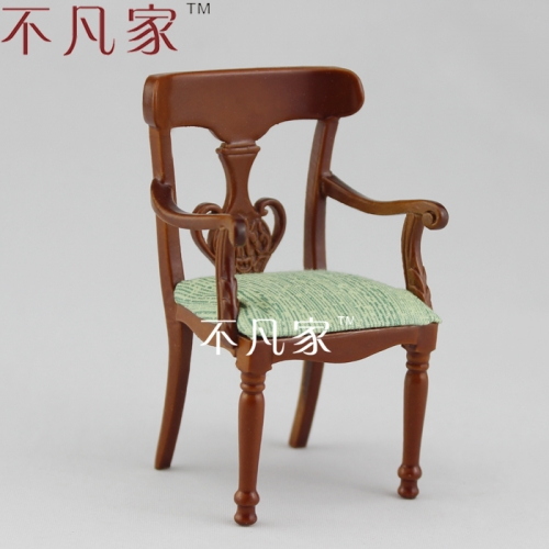 Mini 1/12 scale Furniture for dollhouse Handmade graceful Grand brilliant chair
