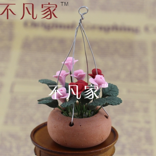 Free shipping 1:12 scale dollhouse decoration high quality beautiful gorgeous miniature flower