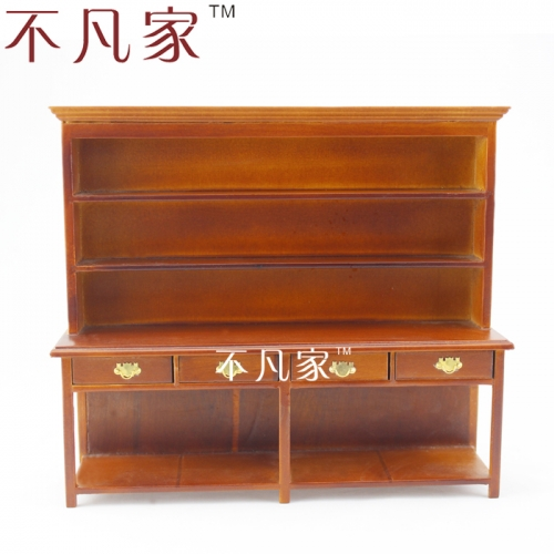 DOLLHOUSE 1:12 SCALE MINIATURE HIGH QUALITY WOODEN CUPBOARD