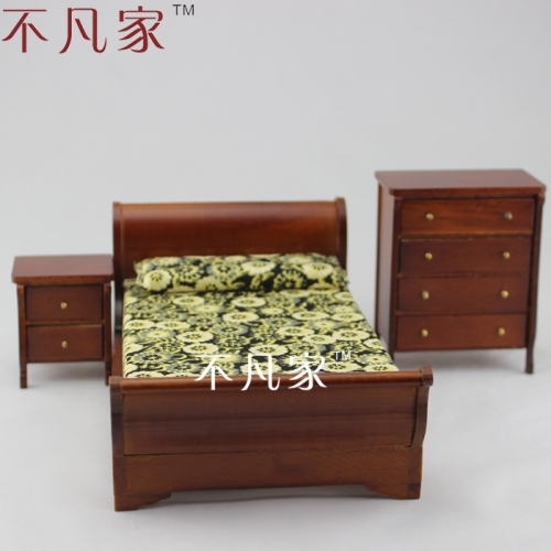 Dolls house Fine 1/12th Scale Miniature Wooden Hand carved brilliant Bedroom Kit