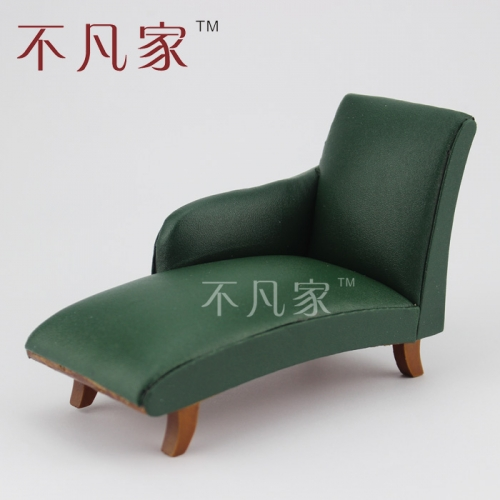 Fine 1/12 Scale Miniature Furniture Elegant Green Lovely Sofa For Dollhouse