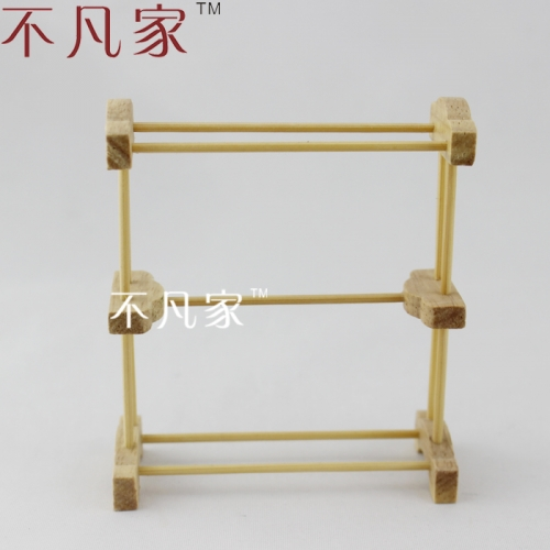 DOLLHOUSE MINIATURE FURNITURE HIGH QUALITY WOODEN TOWEL RACK