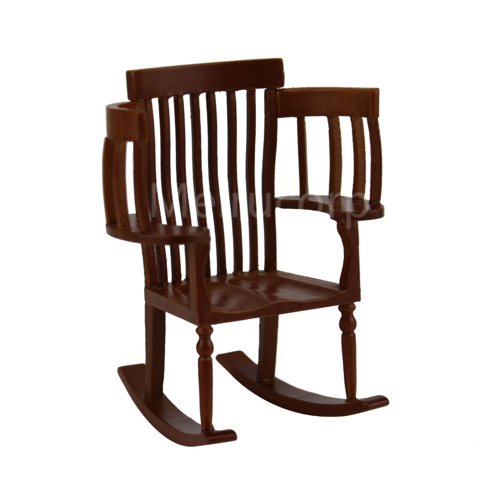 Dollhouse miniature furniture 1/12 scale Exquisite workmanship Paternity Rocking chair
