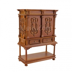 miniature furniture Dollhouse 1/12 scale Boutique Hand carved Side cabinet Collection cabinet