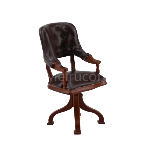 Fine miniature furniture 1/12 scale high quality Wooden Leisure armchair