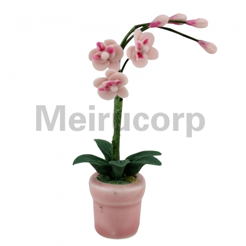 1:12 scale dollhouse Handmade well Pink Butterfly orchid