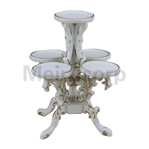 1/12 scale Dollhouse miniature furniture Handmade classical white Polygon Flower stand
