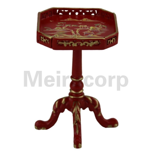 Dollhouses 1/12 scale miniature furniture red Hand painted Elegant Small side table model