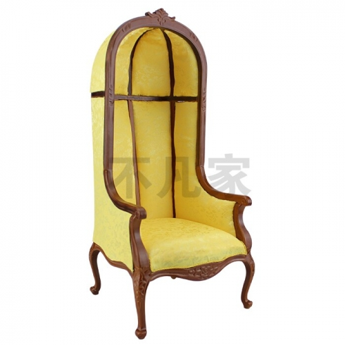 Dolls Furniture model 1:6 scale Hand carved Walnut color luxury Wooden eggshell chair