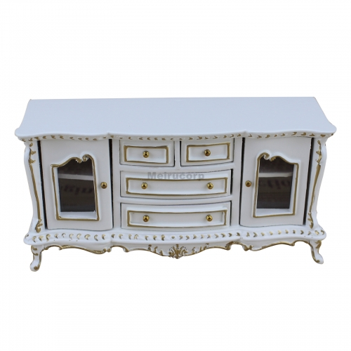 1/12 Scale Dollhouse Miniature Furniture White Good Hand Classical Sideboard