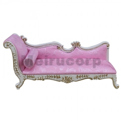 Dollhouse 1/12 scale miniature furniture Wood crafts White handmade Chaise couch