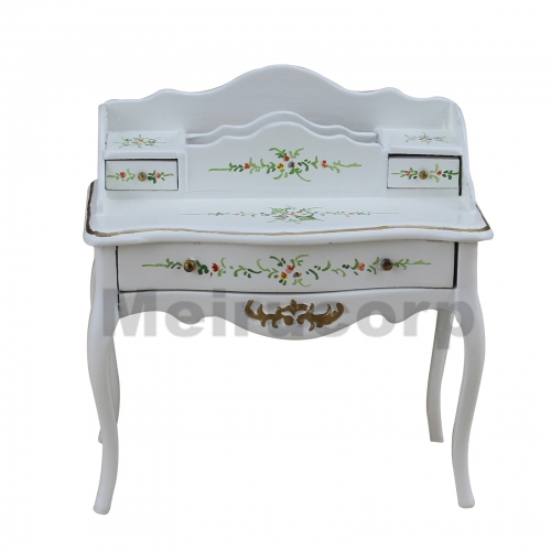 Dollhouse 1/12 Scale Miniature furniture handmade Hand painted white Escritoire