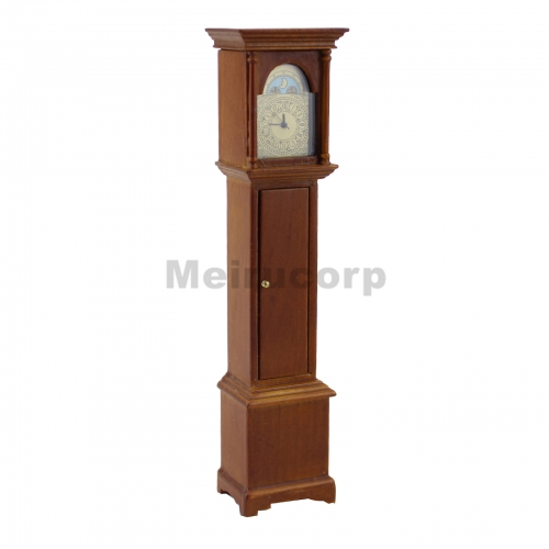 miniature 1/12 scale dollhouse furniture Gorgeous Wooden Floor clock