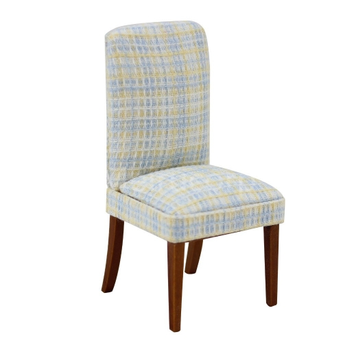 Dollhouse miniature furniture 1/12 scale Fabric modern style restaurant chair