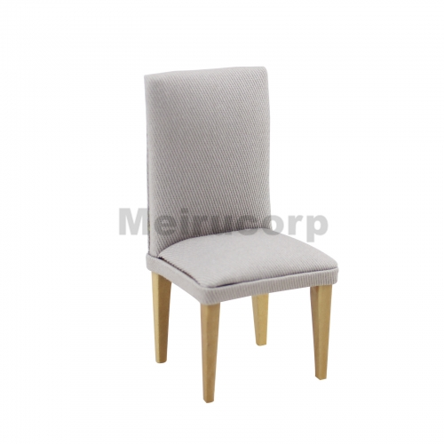 Meirucorp Dollhouse Miniature Furniture 1/12 Scale Fabric Wood Dining Chair