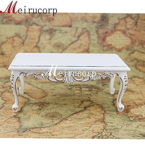 1:6 Scale Miniature Furniture Handmade White Beautiful Tea Table