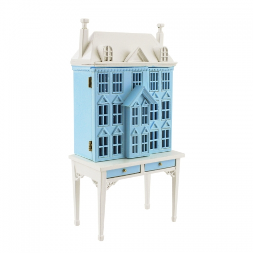 Meirucorp Blue 1/144 Scale Doll House Sit 1/12 Scale Miniature Table