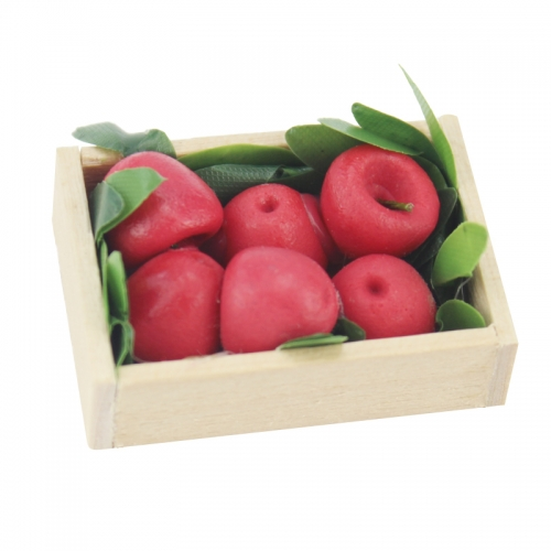 Meirucorp Dollhouse Decorate 1:12 Scale Miniature Clay Model Red Apple Fruit Tray