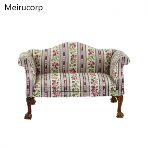 Meirucorp Dollhouse Model Scene 1/12 Scale Miniature Furniture Living Room Fabric Sofa