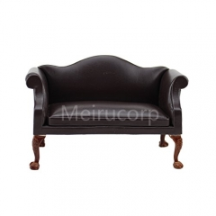 Meirucorp Dollhouse 1/12 Scale Miniature Furniture Brown seat Model Living Room Furniture
